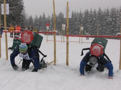Action im Schnee